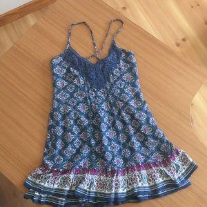 Adorable Ruffled dress, lined, spaghetti strap